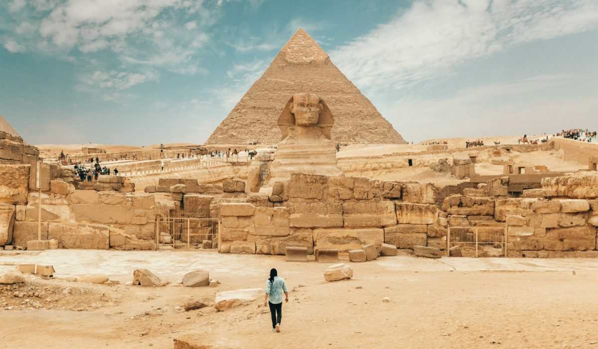 Cairo Piramide van Gizeh