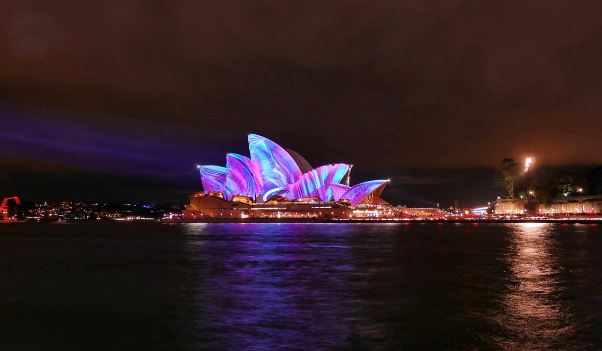 Sydney Opera House verlicht