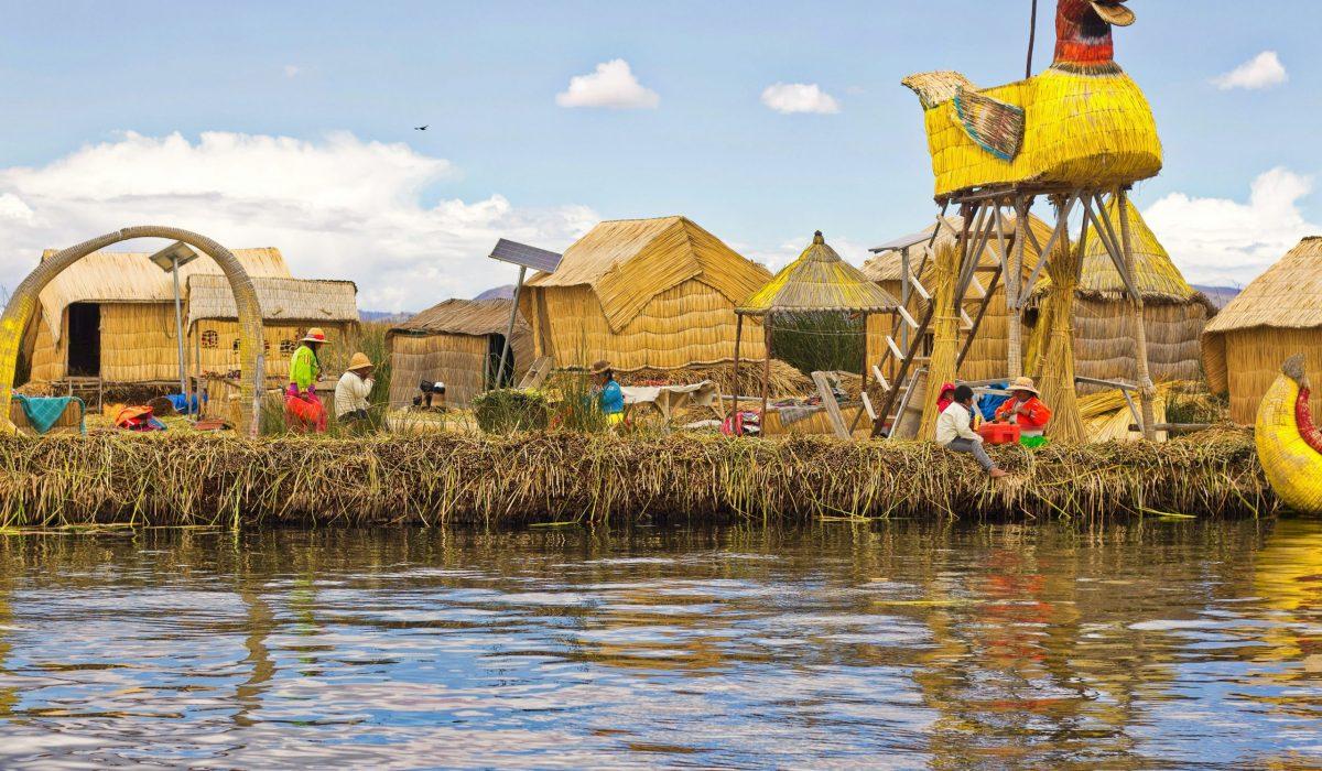 Titicacameer Uros eilanden