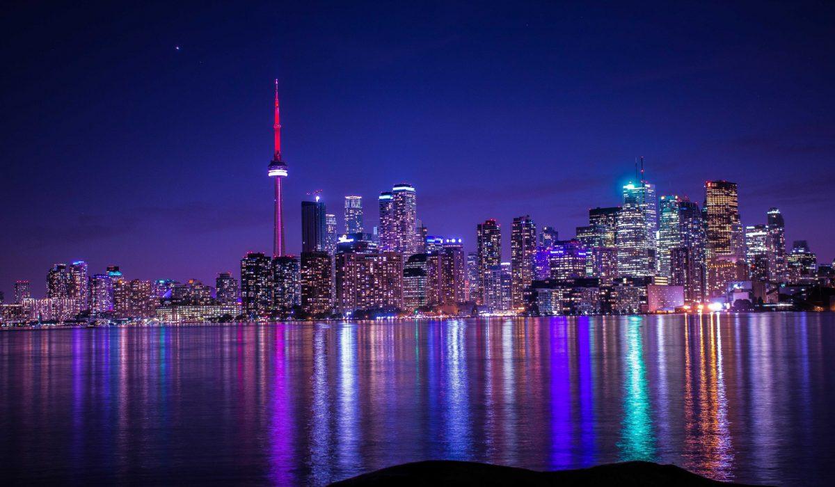 Toronto skyline avond