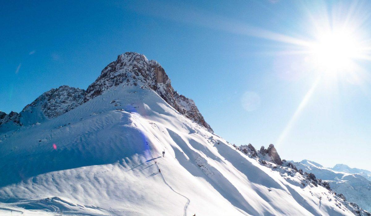 Wintersport in de zon
